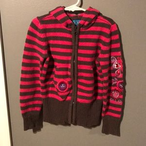 The Children's Place Zip Up Hooded Sweater